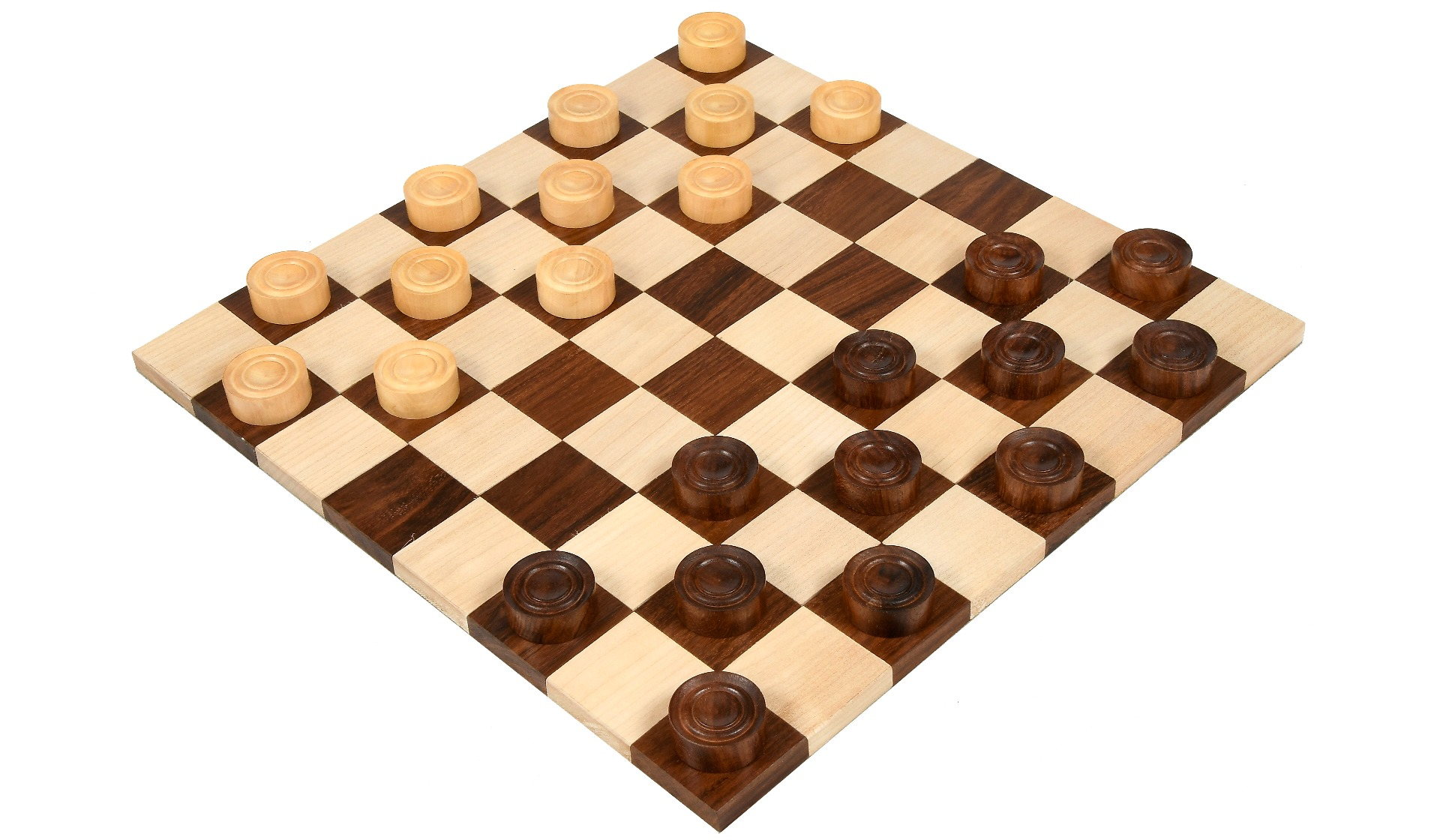 Wooden Checkers / Draught  Set in Sheesham & Box wood - 30mm