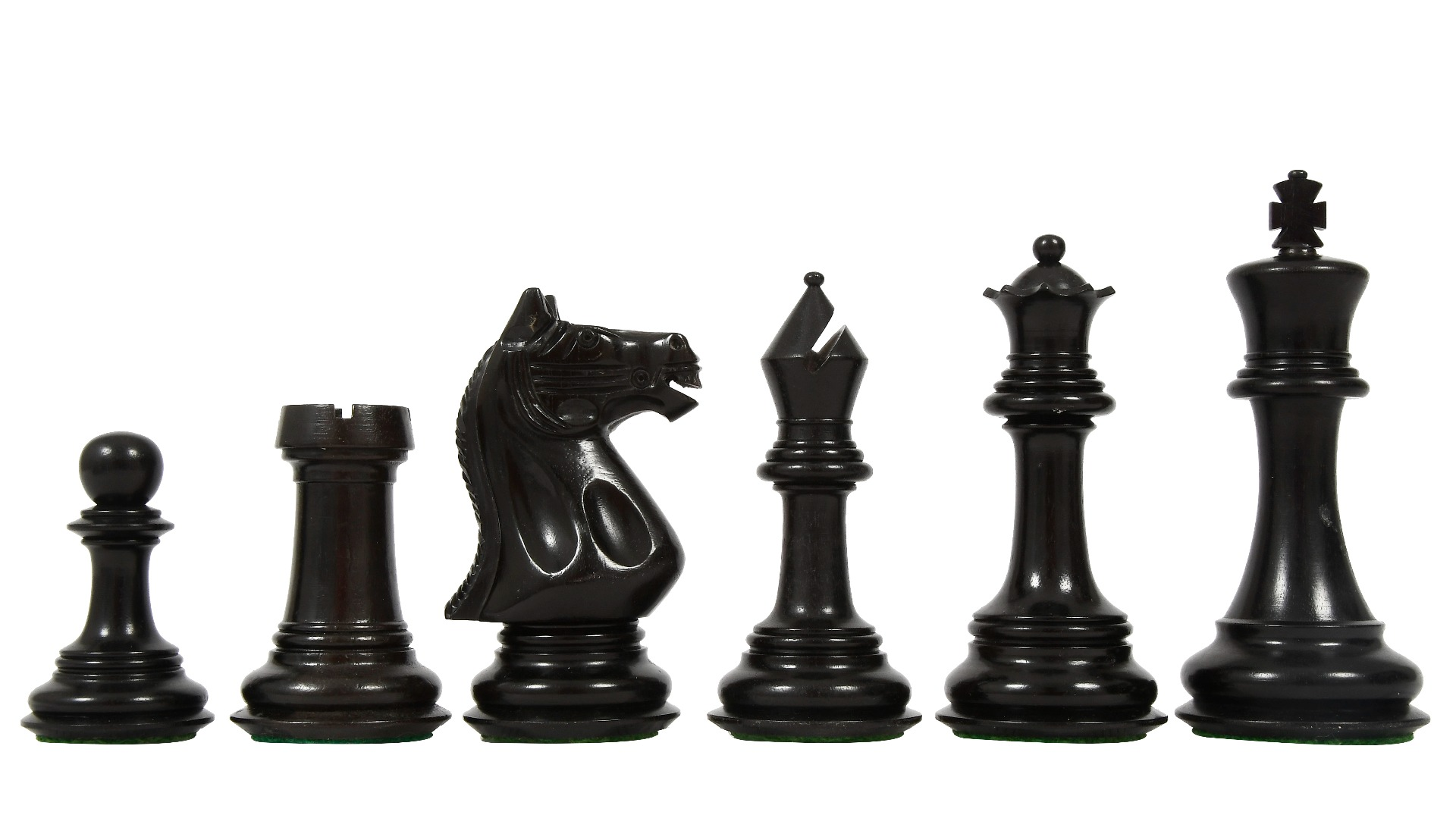 """Slightly Imperfect Staunton Series Chess Pieces in Ebony & Box wood - 4.4"""" King"""