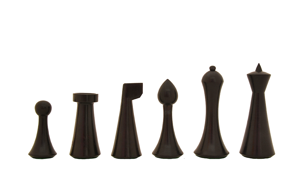 """Slightly Imperfect Minimalist Hermann Ohme Chess Pieces in Dyed Boxwood & Box Wood - 3.75"""" King"""
