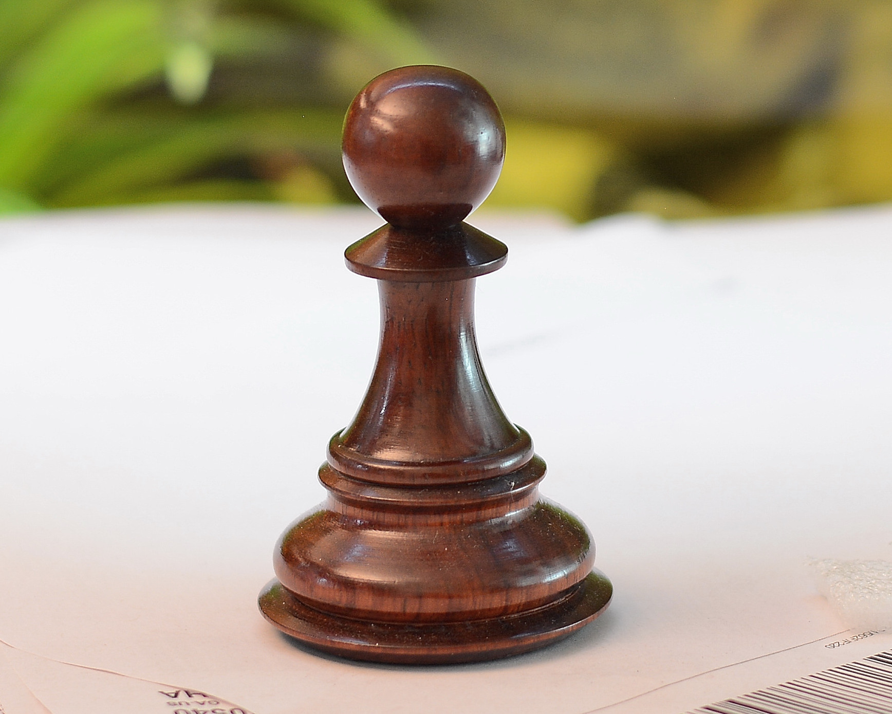 """The Giant Monstrous Series Pawn Chess Piece in Bud Rose Wood Paper Weight - 3.3"""" Height."""