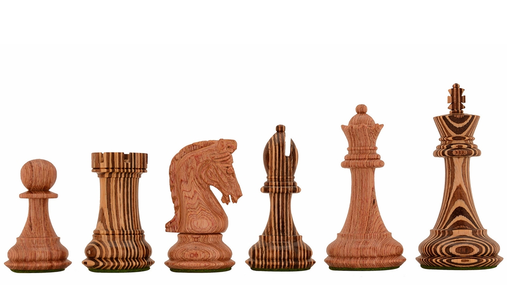"""Limited Edition Imperial Collector Series (Sinquefield Cup 2014) Wooden Chess Pieces - 3.75"""" King"""